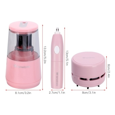 tenwin Electric Pencil Sharpener Eraser Vacuum Cleaner Set