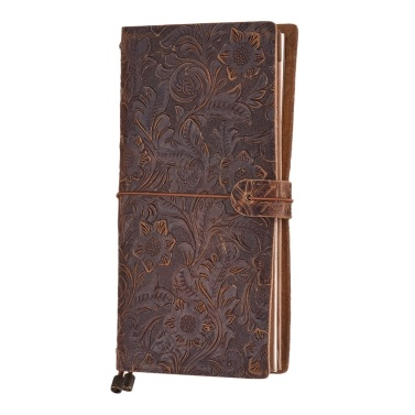 Antique Embossed Travel Journal Notebook Diary Leather Bound Refillable Daily Notepad Lined Blank Grid Paper