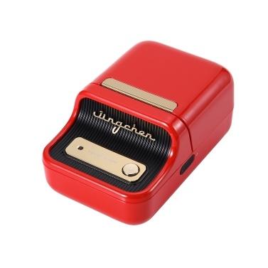 Etikettendrucker Tragbarer drahtloser BT Thermal Label Maker-Aufkleberdrucker mit RFID-Erkennung Ideal für Supermarktbekleidung Schmuck Einzelhandelsgeschäft Home Labeling Barcodes Preis Name Drucken