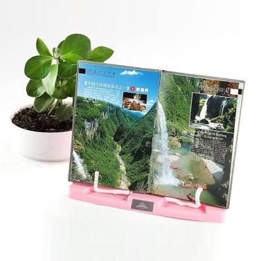 Tragbarer Bücherständer verstellbar 6 Winkel Buchdokumentenhalter Faltbarer Bücherständer Freisprechen Schreibtischlesung für Kochbuch Rezept Musikbuch Lehrbuch Tablet Zubehör
