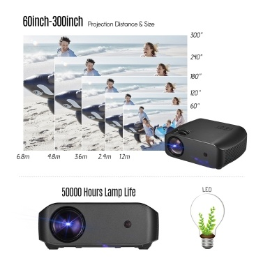 Portable LED Video Projector Home FamilyTheater Movie Projector