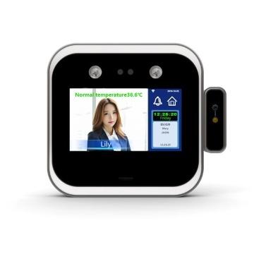 Gesichtserkennung Handgelenkstemperatur-Messdetektor Gesichtskennwort Biometrische intelligente Anwesenheitsmaschine