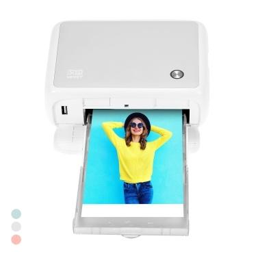 HPRT CP4000L Tragbarer Vollfarb-Fotodrucker Mini Househeld Thermal Sublimation Printer 4 x 6 Zoll 300 dpi AR-Druck WiFi-Verbindung Automatische Laminierung mit 1-teiliger Farbtintenpatrone und 54 Blatt Fotopapier Kompatibel mit Windows Android iOS