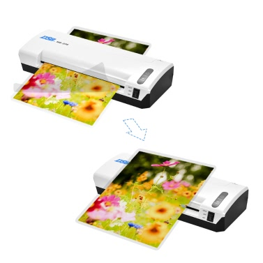 DSB HQ-236 A4 Photo Hot Cold Laminator Free Paper Trimmer Cutter 1.5-2min Warm Up 400mm / min Schnelle Geschwindigkeit für 80-125mic Film Laminieren mit Jam Release EU Plug