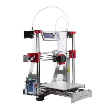 ZONESTAR P802QR2 Prusa i3 Metall FDM 3D Drucker DIY Kit Dual Extruder Dual Farbdruck Unterstützung Auto Leveling Resume Upgrade Große Druck Größe 220 * 220 * 240mm Hohe Genauigkeit mit Heatbed + 0,5 kg 1,75 mm Weiß PLA Filament