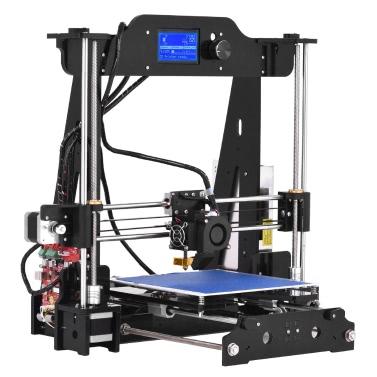 Hohe Präzision Desktop-3D-Drucker-Kits DIY Selbstmontage LCD12864 Bildschirm Acryl Rahmen Reprap Prusa i3 mit TF-Karte Druck Größe 220 * 220 * 200mm Unterstützung ABS / PLA / TPU / Holz Filament