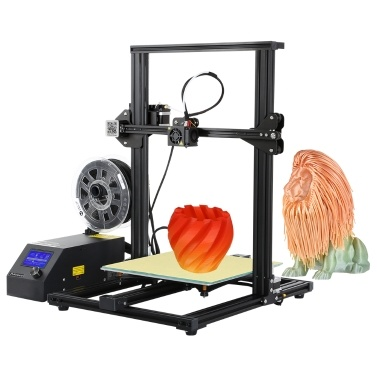 Aibecy CR-10S Self-Assembly 3D DIY Drucker Large Print Größe 300 * 300 * 400mm Aluminium Rahmen mit Filament Detektor 270W Power unterstützt PLA / ABS / TPU / Kupfer / Holz / Carbon Fiber Filament