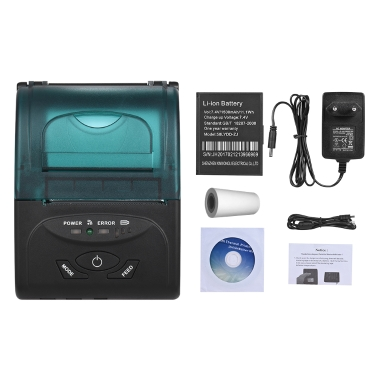 BT 4,0 Mini Portable Wireless Thermodrucker 58mm Beleg Ticket Druck für IOS Android Windows Linux Systeme