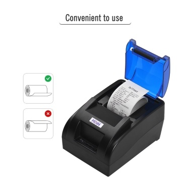 HOIN Portable 58mm Thermal Receipt Printer with BT & USB Interface High Speed Bill Ticket Clear Printing Compatible with ESC/POS Commands Set for Supermarket Store Shop Business Support for Windows//Linux/Android/iOS