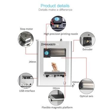 MakerPi M1 Desktop Mini 3D Printer Fully