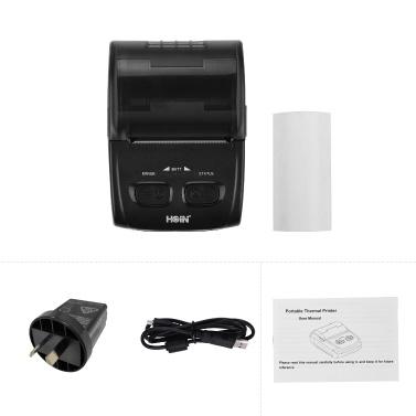 HOIN Portable 58mm Thermal Receipt Printer Handheld