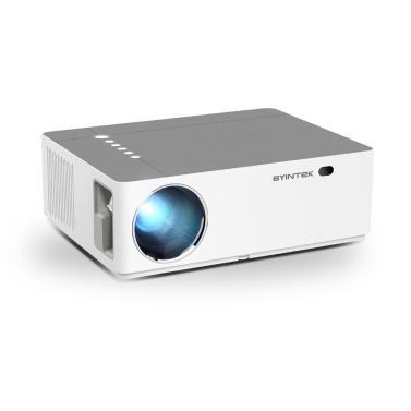 BYINTEK K20 Basic Video Movie Projektor 1080P Full HD Projektor 500 ANSI Lumen Kompatibel mit PC Laptop U Disk TV Box HD DVD PS4 für Heimkino Office Entertainment