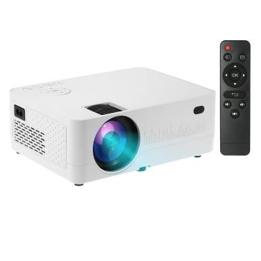Tragbarer Heimkino-LED-Projektor 1080P Unterstützter 6500 Lux Heimvideofilmprojektor