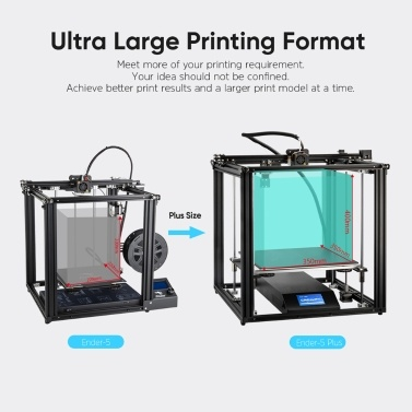 Creality Ender-5 Plus 3D Printer DIY Kit Upgraded Mean Well Power