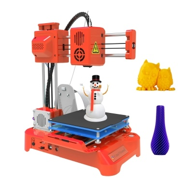EasyThreed 3D Printer for Kids Mini Desktop 3D Printer 100x100x100mm Print Size No Heated Bed One-Key Printing with TF Card PLA Sample Filament for Beginners Household Education