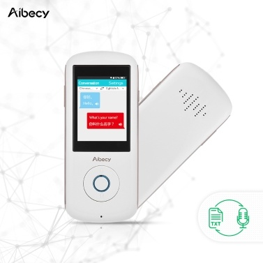 51% OFF Aibecy A8 Real-time Intelligent Voice Translator,limited offer $124.99
