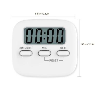 Tragbarer digitaler Küchentimer Magnetischer Koch-Countdown-Alarm mit LCD-Bildschirmständer für das Studiensport-Kochspielbüro