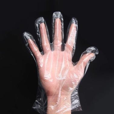 100 Stück / Los Einweg-PE-Handschuhe Kunststoff Transparente Lebensmittelfolie Sanitärhandschuhe Beauty Catering Einweghandschuhe von Xiaomi Youpin
