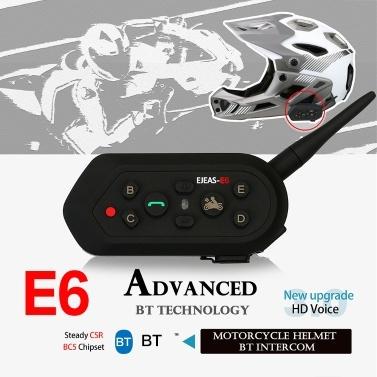 E6 Motorrad BT Intercom Motorrad Sprech Headset 1 STÜCK