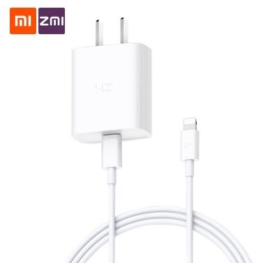 Xiaomi ZMI USB Typ C Schnellladegerät mit USB-C Blitzdatenkabel 18 W Ministecker Tragbarer Telefonadapter Reiseladegerät Wandladebuchse PD3.0 Schnellladebuchse Für iPhone XS Max XR XS X 8 100-240 V