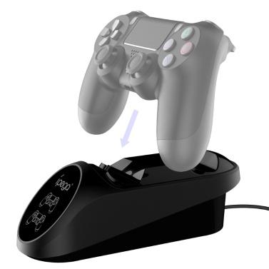 iPega PG-9180 Dockingstation mit zwei Ladestationen und LED-Anzeigeanzeige Kompatibel mit Playstation 4 PS4 Game Controller Gamepad