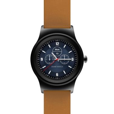 SMA Runde Smart Watch 1,3-Zoll-IPS-Display MTK2503A Activity Tracker Anrufsynchronisierung Nachricht Benachrichtigung 300mAh 128 MB + 64 MB Musiksteuerung Remote-Kamera
