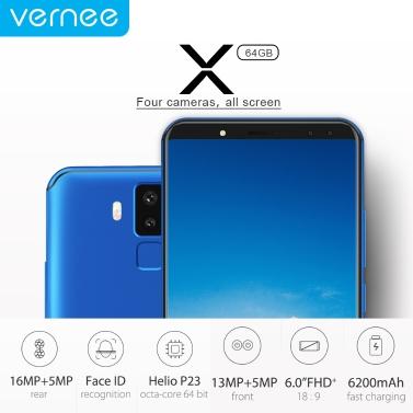 Vernee X 4G Smartphone Face ID 4GB+64GB
