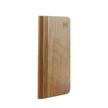Meki Unique Book-shaped Wooden Eco-friendly Material Ultra-Slim Mobile Charger 6000mAh Portable Phone Charger Power Bank External Battery Pack for iPhone iPad Smartphones and Tablets