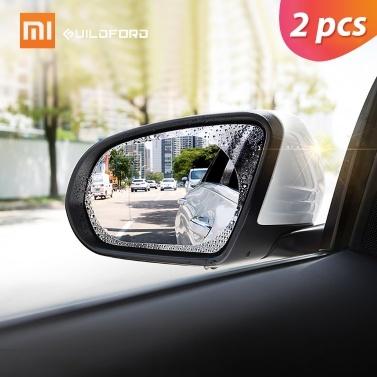 2ピースシャオミギルフォード車のバックミラー保護フィルム防水アンチフォグ防雨透明膜ステッカー