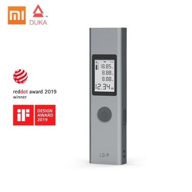 Neuer Xiaomi DUKA Laser-Entfernungsmesser LS-P Tragbarer, hochpräziser USB-Schnellladungs-Entfernungsmesser 40M