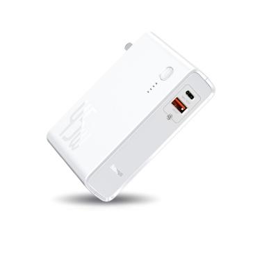 Baseus GaN Power Bank 10000mAh 2 in 1 USB-Ladegerät 45W PD Schnellladegerät Akku für iP 11 Pro MacBook Pro Laptop Typ C + USB