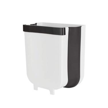 An der Wand montierter klappbarer Abfallbehälter Küchenschranktür hängender Mülleimer Behälter Faltbarer Küchenschranktür hängender Mülleimer