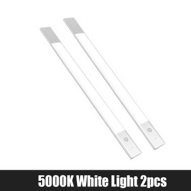 Youpin EZVALO Wireless Lamp LED Night Light Induction Human Body Motion Infrared Sensor 1500mAh USB Rechargeable For Bedside Wardrobe Cabinet  5000K White Light 1pc and 3500K Warm White Light 1pc