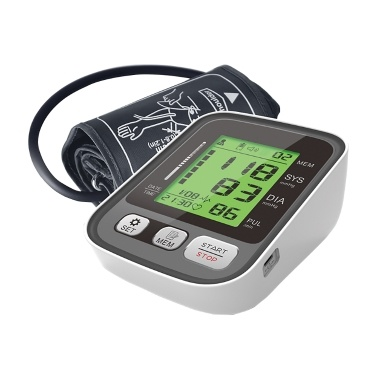 JZ-256A Upper Arm Blood Pressure Monitor with Large Cuff/2-Users Mode/3-Color Backlight Indicator/LCD Display Screen Automatic BP Monitor/BP Cuff/Smart Blood Pressure Device to Detect Irregular Heartbeat