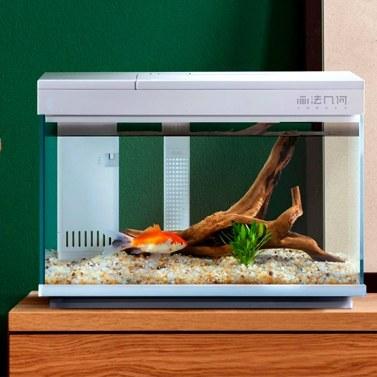 Xiaomi Youpin Desgeo Smart Fishbowl Goldfischbecken Wohnzimmer Home Desktop Kleines Aquarium LED RGB Bunte Fischbox Arbeiten mit APP 220V