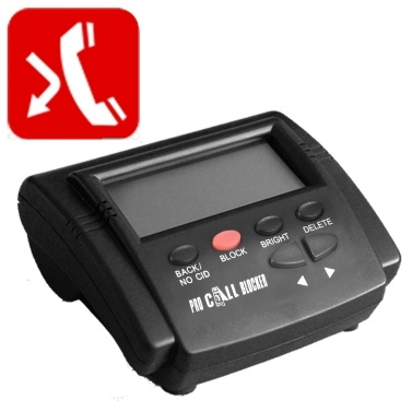 CT-CID803 Caller ID Box Call Blocker Parar incômodo chamadas Devices Chamada ID Screen Display LCD com 1500 Números Capacidade Stoping Todas as chamadas frias para telefones fixos antigo Fixo Telefone