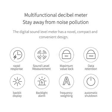 DUKA FB1 Decibel Meter Mini Digital Sound Level Meter