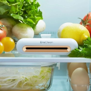 Global Version EraClean Refrigerator Deodorizing Sterilizer Household Refrigerator Food Preservation Air Purifier USB 800mAh Rechargeable Keeping Fresh Deodorant for Home Car Shoe Cabinet