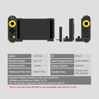 iPega Dual Thorn Gamepad PG-9167 Game Wireless Controller