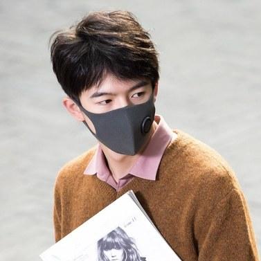 5 Stück Xiaomi Smartmi KN95 Anti-Verschmutzungs-Gesichtsmasken Air Sport-Gesichtsmaske Atemschutzmasken Block PM2.5 Anti-Haze-einstellbares ohrhängendes 3D-Design Komfortabel mit Belüftungsventil