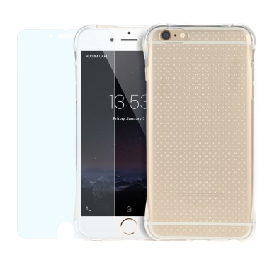 2er Set/360 Grad voll schützen Crystal Clear Ultra dünne weiche TPU Gel zurück/Schutzhülle mit NANO Schutzfolie explosionsgeschützte Schutzfolie für iPhone 6 6 s