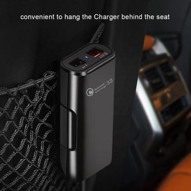Auto Ladegerät 4 In 1 Schnellladegerät 4 USB Ports 36W 8A Vorne und Hinten Auto Schnellladung Reise Tragbarer Adapter Handy Ladegerät für Für iPhone Samsung Huawei Xiaomi