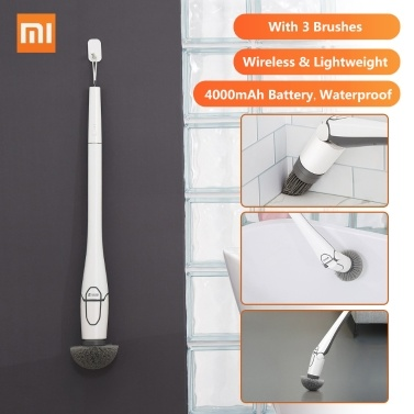 CL99 Multifunctional Wireless Electric Cleaner With 3 Brushes