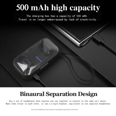 TI8S TWS BT5 0 Wireless Earbuds Headphones Mini Earphones HiFi Stereo  In-ear Sports Earphones with Microphone with 500mAh Charging Box Compatible  with