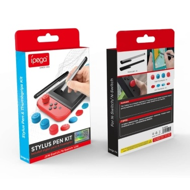 iPega PG-SW030 Stylus Pen + Silicone Joystick Caps Set Joy-Con Thumb Grip Cover Set Compatible with Nintendo Switch / Switch Lite