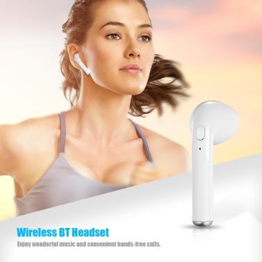 Wireless BT Headset Mini Stereo In-Ear Earphone Headphone Earbud BT4.1 with Mic Single Right Ear