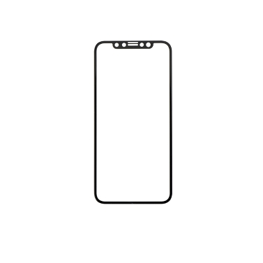 HD Clarity Displayschutzfolie 3D Cold Carving Technologie Premium gehärtetes Glasfolie 9H Härte Ultra-dünne Frontscheibe Schutzfolie Anti-Kratz-Anti-Explosion für iPhone X