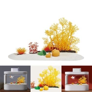 Desgeo Künstliche Wasserpflanzen Aquarium Dekorationen Kleine Aquarienpflanzen Simulation Kunststoff Hydroponische Pflanzen Aquarium Dekor Verwendet für Haushalt und Büro