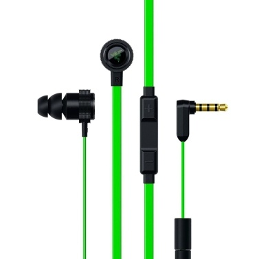 Razer Hammerhead Pro V2 In-Ear Earphones 1.3m Wired Headset with Mic 3.5mm Plug/Noise Reduction/HD Voice/Deep Bass/Three-button Control Headphones Compatible with Phone/Laptop/iPad