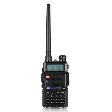 BAOFENG UV-5R Sprechfunksprechgerät Funkgerät FM Transceiver Dual-Band DTMF-kodiert VOX Alarm LED Flashlight Key Lock